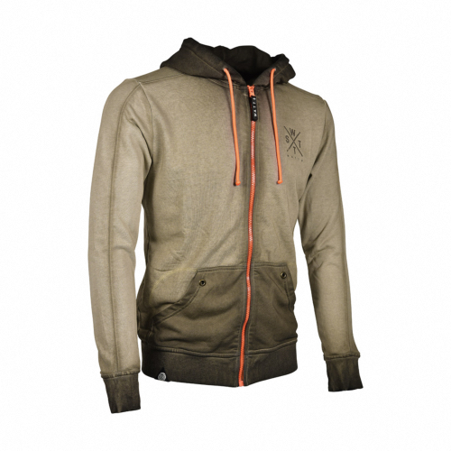 Sweat-Shirt zippé Mixte MUSKA - Kaki - 1312